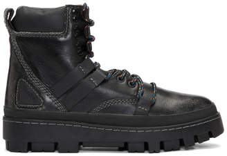 Diesel Black D-Vibe Hiking Boots