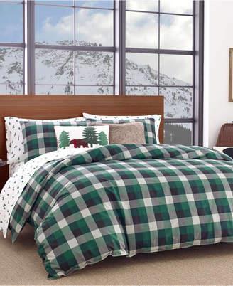 Eddie Bauer Birch Cove Plaid Dark Pine Full/Queen Comforter Set Bedding