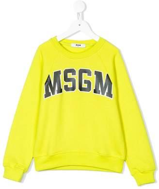 MSGM printed logo sweatshirt