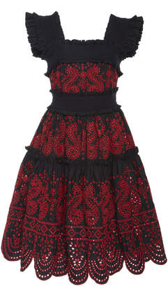 Marissa Webb Nicola Embroidered Dress