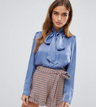 Fashion Union Petite petite blouse with pussy bow