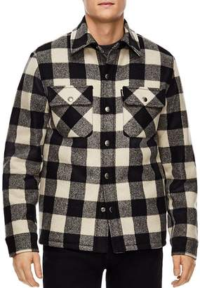 Sandro Lumber Buffalo-Check Shirt Jacket
