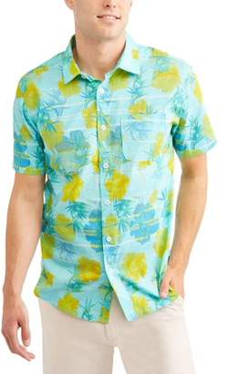 Cherokee Men's Allover Print Short Sleeve Woven Shirt