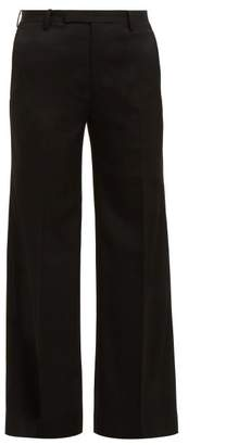 Junya Watanabe Wool Twill Straight Leg Trousers - Womens - Black
