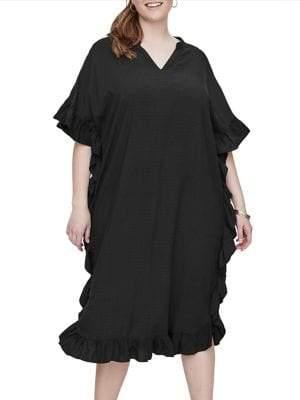 Junarose Plus Palmira Short-Sleeve Below-Knee Dress