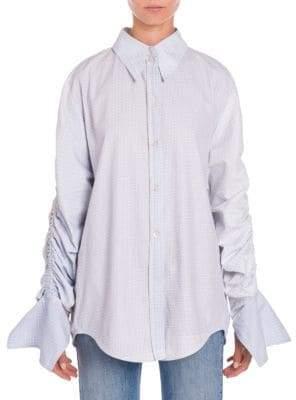 Stella McCartney Ruched Check Shirt