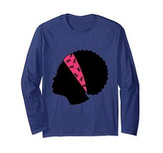 Breast cancer awareness long sleeve t-shirt for women.