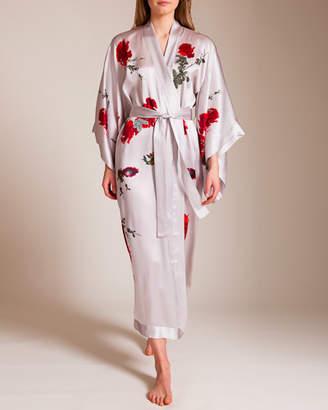 Hanson Meng Long Silk Satin Kimono
