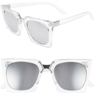 Women's A.j. Morgan Cropduster 52Mm Sunglasses - Crystal/ Mirror $24 thestylecure.com