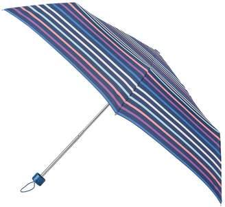 totes Supermini Pastel Stripe Print Umbrella (3 Section)