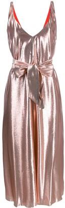 Indress V-neck belted dress