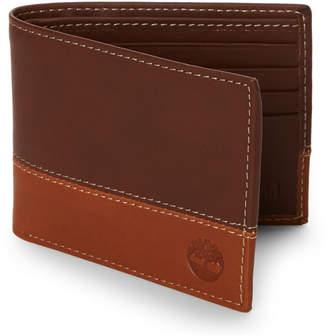 5b693f313ea7 Timberland Leather Bi-Fold Commuter Wallet