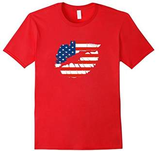 America Patriotic Star Spangled Lips T-Shirt