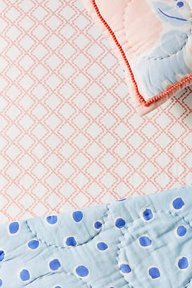 Anthropologie Scalloped Diamonds Crib Sheet