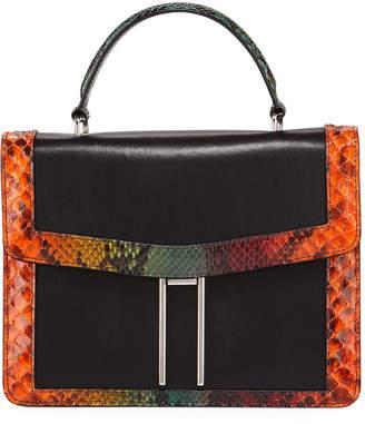 Hayward H Top-Handle Tie-Dye Python Crossbody Bag