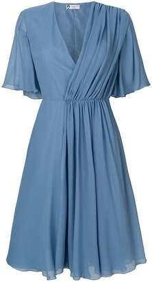Lanvin pleat detail dress