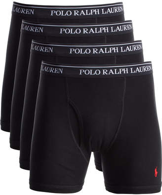 Polo Ralph Lauren Men Classic-Fit Knit Cotton Boxer Briefs, 3+1 Bonus Pack