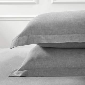 The White Company Evesham Oxford Pillowcase with Border Single