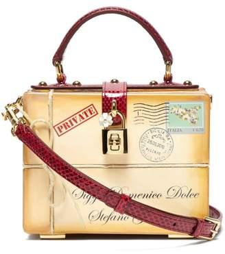 Dolce & Gabbana Dolce Box Ayers Snakeskin Trim Bag - Womens - Beige Multi