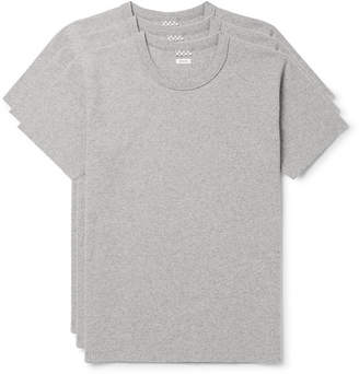 Visvim Three-Pack Mélange Cotton-Jersey T-Shirts