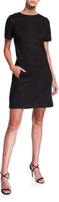 Elie Tahari Bridgett Short-Sleeve Dress with Pockets