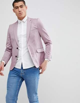 Burton Menswear Slim Blazer In Pink