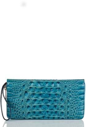 Brahmin Skyler Croc Embossed Leather Wallet