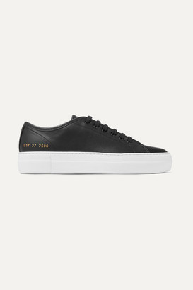 Common Projects Tournament Leather Sneakers - Black