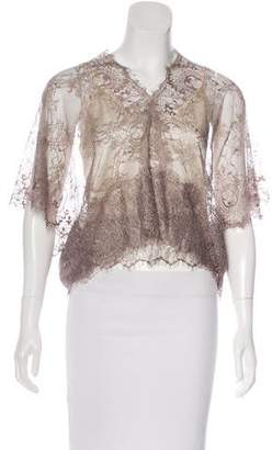 Loyd/Ford Guipure Lace Short Sleeve Top