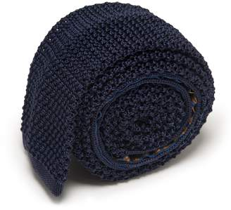 Serà Fine Silk - Navy Blue Knitted Tie