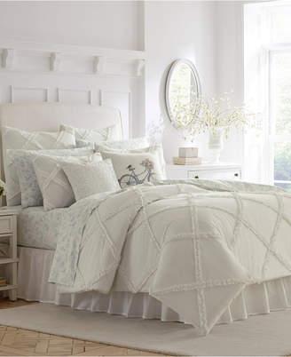 Laura Ashley Adelina White Comforter Set, King Bedding