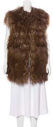 Sacai Long Shearling Vest