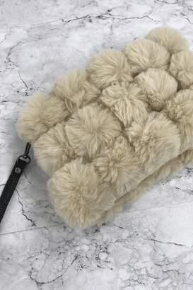at Little Mistress · Sand Fur Pom-Pom Clutch Bag b5f1f5b7fd