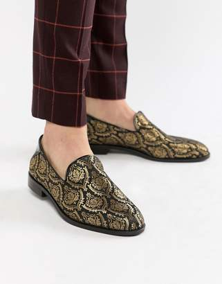 House of Hounds House Of Hounds Hawk loafers in black brocade