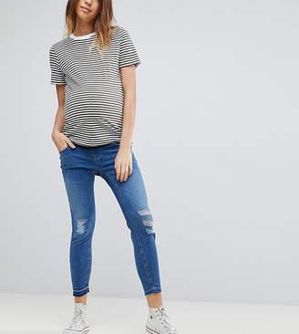 New Look Maternity Under Bump Drop Down Hem Jeans