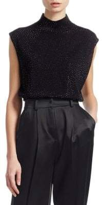 Emporio Armani Glitter Virgin Wool Sleeveless Top