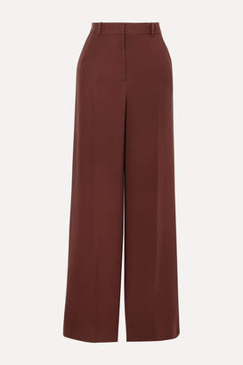 Joseph Alana Silk-crepe Wide-leg Pants - Burgundy