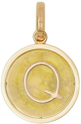 Burberry marbled resin 'Q' alphabet charm