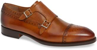 Magnanni Valda Double Strap Cap Toe Monk Shoe