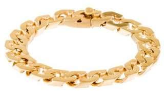 14K Flat Curb Link Bracelet