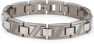 JCPenney FINE JEWELRY Men's Diamond Bracelet 1/10 CT. T.W. Stainless