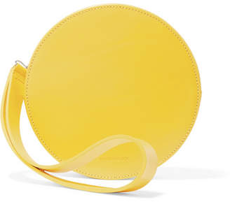 Puk Leather Clutch - Yellow