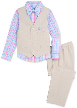 Nautica (ノーティカ) - Nautica Baby Boys 4-Pc. Shirt, Vest, Pants & Bowtie Set