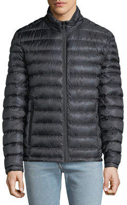 MICHAEL Michael Kors Men's Quilted Down Fill Zip Jacket