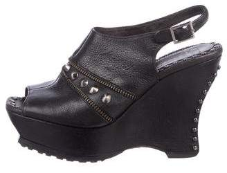 Donald J Pliner & Lisa Signature Leather Platform Wedges