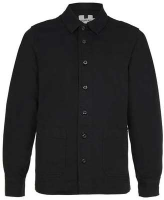 Black Denim Long Sleeve Overshirt $65 thestylecure.com