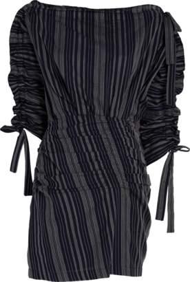 Tanya Taylor Sabra Stitched Stripe Dress