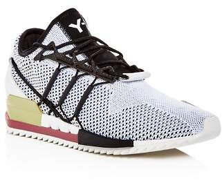 Y-3 Men's Harigane Knit Lace Up Sneakers