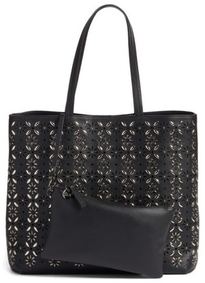 Chelsea28 Kaylee Embellished Faux Leather Tote - Black $119 thestylecure.com