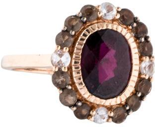Le Vian 14K Garnet, Quartz & Sapphire Ring w/ Tags $445 thestylecure.com
